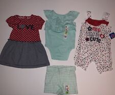 18M Month Baby/Toddler Girl's Mixed Clothing 4 Piece Lot Patriotic 4th of July