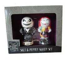 New Collectable NIGHTMARE BEFORE CHRISTMAS JACK SALLY SALT AND PEPPER SHAKERS NW