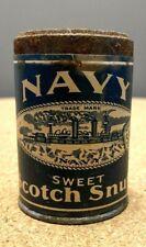 Helme Navy Scotch Snuff Advertising tin SAMPLE 3/4 ounce Internal Revenue Stamp