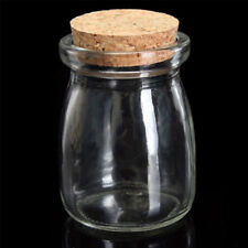 100ML Small Clear Display Glass Jar Bottle Wish Vial Container with Cork Stopper