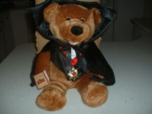 "PBC INT'L CHANTILLY LANE MUSICAL 18"" ""COUNT THEODORE"" SINGING PLUSH BEAR"