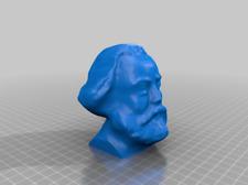 "Karl Marx Bust 3D Printed Figure Figurine Sculpture Marxism Communism White 4"""