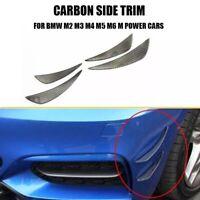 4 X BMW Front Bumper Carbon Fiber Canards Splitter Lip M2 M3 M4 F22 F32 F80 F82
