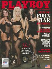 TERA PATRICK SIGNED AUTO'D PSA/DNA COA PLAYBOY MAGAZINE MARCH 2002 PORN STARS