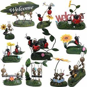 Miniature Life - Metal Ant / Ladybird Garden Ornament Sculpture Gift