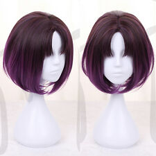Miss Kobayashi's Dragon Maid Elma Eruma 35cm Short Purple Ombre Cosplay Hair Wig