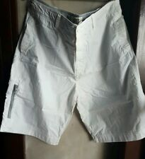 OLD NAVY MEN'S 5-POCKET CASUAL SHORTS-WHITE, SIZE 36