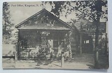RPPC c1907 NJ Postcard Post Office Kingston,New Jersey, Oil & Greases posted