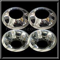 "Chevy Silverado 3500 17"" Dually Chrome Wheel Simulators hubcap Cover Liner 08-10"
