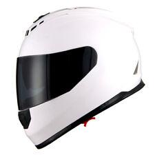 1Storm DOT Motorcycle Full Face Helmet Dual Lens Sun Visor Monster Glossy White