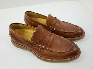 Sperry Exeter Penny Loafer Top Sider Leather Lambskin Lining Gold Cup Men's 10 M