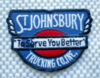 """ST JOHNSBURY EMBROIDERED SEW ON PATCH TRUCK FREIGHT VINTAGE 3 7/8"""" x 2 1/2"""""""