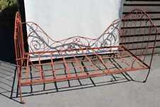 1900's French Metal Day Bed with decorative metal scrolls