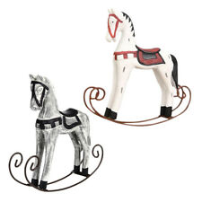 2x Europe Style Wooden Horse Statue Wedding Decor Wood Horse Home Decoration