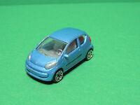 Majorette N°254 H Citroen C1 - 1/55 voiture blue diecast car