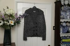 """Per una grey wool mix cardigan double breasted ladies small bust 36"""" vgc"""