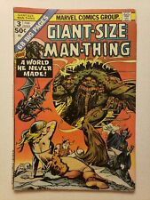 Giant-Size Man-Thing 3 (Marvel, Feb 1975) See pics for condition!