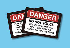 """""""Danger - Do Not Touch - Not Only Will"""" - 2 Humorous Verse Cards - sku# 4148"""