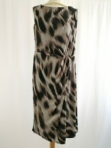Planet | Gathered Waist Pencil Dress | Size 14 | Fully Lined | Animal Print