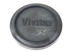 Used Vivitar 49mm Lens Front Cap Black slip-on type plastic made in Japan