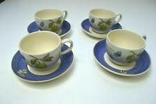 Wedgwood Sarah's Garden Cups & Saucers x 4