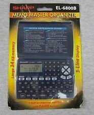 Sharp EL-6800B Memo Master Electronic Organizer 34KB LCD