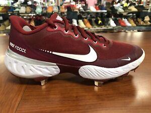 Nike Alpha Huarache Elite 3 Low White/Crimson Baseball Cleats Men's  CK0746-601