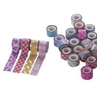 20/40/60 Roll Mix Glitter Washi Paper Tape Adhesive Decorative Craft DIY Sticker