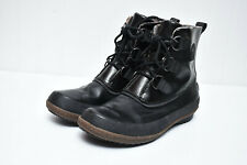 Sorel Joplin Rain Flax Boot Boot Canvas Womens Waterproof Lace Up Boots Sz 9