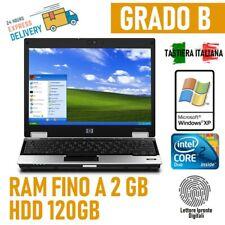 "PC COMPUTER PORTATILE NOTEBOOK NETBOOK HP 2530P 12"" WINDOWS XP  TASTIERA ITA-"