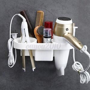1pc self-adhesive Hair Dryer Stand Holder Bathroom Wall Mount Bracket Storage