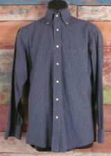 Quindici & Trequarti Blue Checks Button Down Casual Shirt Size 15 Made In Italy
