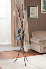 Kings Brand Bronze Finish Metal Tree Branches Coat & Hat Rack Stand ~New~