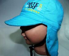 Dolli KU42 43 44 45 46 47 49 50 Nackenschutz Sonnen Hut BABY Jungen Kinder blau