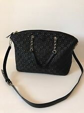 Tory Burch 'Marion' Quilted Slouchy Lambskin Leather Satchel - Black