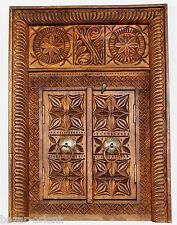 antik-look orient massiv holz Fenster Tür window Wandschmuck aus Afghanistan 16E