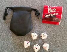 Vintage Collectible ~ MARLBORO Poker Dice Game ~ w/ Booklet & Leather Bag 1990