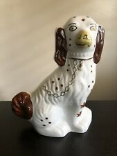 Fine Antique Staffordshire Dog King Charles Spaniel Statue Sculpture England Nr
