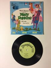 Mary Poppins See Hear Read Book W/ 33 Record Disneyland Records 1965 Vintage