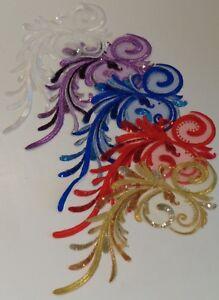 sewing sequins lace applique floral tulle sequined lace motif various colours