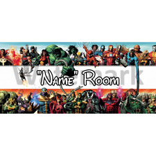 Marvel Personalised Bedroom Door Sign  - Any Text/Name (4)
