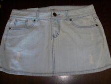 SO wear it declare it Size 11 light wash denim jean skirt New factory distressed