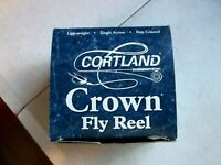 NEW Cortland Crown Adjustable Click Drag Fly  Reel 95 Made in England