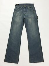 Lee work clothes denim vintage W30 44 usato blu azzurro relax jeans pants T1459