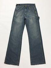Lee work clothes denim vintage W30 44 usato blu azzurro relax jeans pants T1459