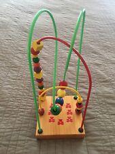 Educo Bear Hug Wire Bead Maze Roller Coaster Made in Canada Three Tracks