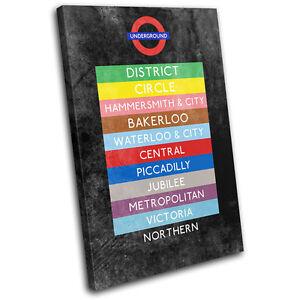 London Underground Station Urban SINGLE CANVAS WALL ART Picture Print