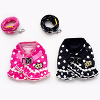 Dog Belly Strap Puppy Cat Vest For Small Dogs Pet Bowknot Chest Harness Lead
