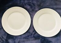 "Set of 2 Dario Farrucci 8 3/4"" Salad Dessert Plates Smooth Solid White"