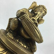 NEW Collectable Brass Musician Lord Ganesha Statue Brass Sculpture Antique